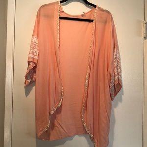 PinkBlush Peach Kimono